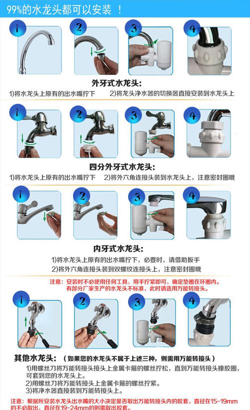 安之星水龙头净水器产品介绍安装说明