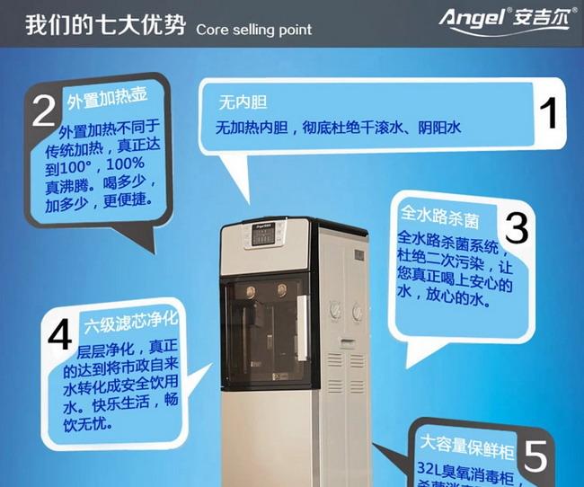 安吉尔净水器Y1195LKD立式直饮机产品介绍 一